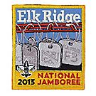 Official 2013 Jamboree® Subcamp Embroidered Emblem - Elk Ridge F3