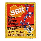 Official 2013 Jamboree® Subcamp Embroidered Emblem -  New River Gorge F4