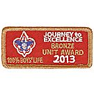 Journey to Excellence 2013 100% Boys' Life Unit Bronze Award