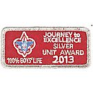 Journey to Excellence 2013 100% Boys' Life Unit Silver Award