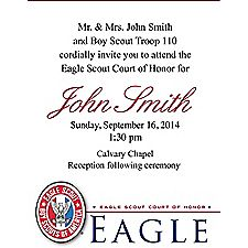 Eagle Scout Court Of Honor Invitation Cards 50 Pack