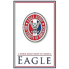 Eagle project workbook for Eagle scout court of honor program template