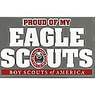 Proud of My Eagle Scouts Window Decal