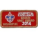 2014 Journey to Excellence 100% Boys' Life Unit Bronze Award
