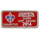 2014 Journey to Excellence 100% Boys' Life Unit Silver Award