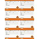 Tiger Pocket Certificates – 8-sheet