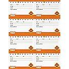 Tiger Pocket Certificates – 8-sheet
