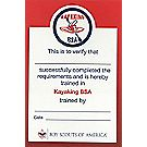 Kayaking Pocket Certificate