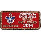2015 Journey to Excellence 100% Boys' Life Unit Bronze Award