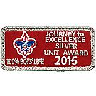 2015 Journey to Excellence 100% Boys' Life Unit Silver Award