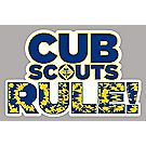 """Cub Scouts RULE!"" Car Magnet"