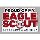 """Proud of My Eagle Scout"" Car Magnet"
