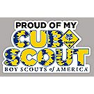 """Proud of My Cub Scout"" Car Magnet"