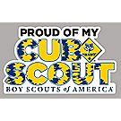 """Proud of My Cub Scout"" Car Magnet"