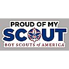 """Proud of My Scout"" Car Magnet"