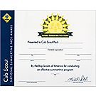 Cub Scouts® Summertime Pack Award Wall Certificate