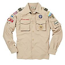 Scout bags for school - Boy Scout Long Sleeve Supplex Nylon Uniform Shirt Closeouts