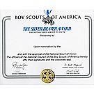 Silver Beaver Award Wall Certificate