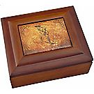 """""""Scout in Action"""" Walnut and Faux-Leather Box"""