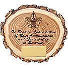 Elm Wood Slice Appreciation Plaque