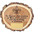 Elm Wood Slice Appreciation Plaque
