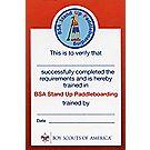 Standup Paddleboarding Pocket Certificate