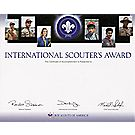 International Scouter's Award Certificate