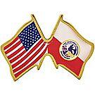 2017 U.S./National Scout Jamboree® Crossed Flags Pin