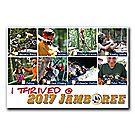 """I THRIVED @ 2017 JAMBOREE"" Postcard"