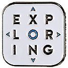 Stacked Exploring Logo Pin