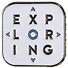 Stacked Exploring Logo Pin