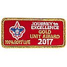 Journey to Excellence 2017 100% Boys' Life Unit Gold Award