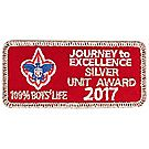Journey to Excellence 2017 100% Boys' Life Unit Silver Award