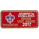 Journey to Excellence 2017 100% Boys' Life Unit Bronze Award