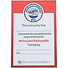 Whitewater Rafting Pocket Certificate