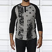 Mens Raglan Flag Shirt