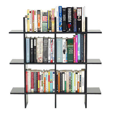 3 Foot Wide Simple Bookshelf In Black Finish Smart Furniture