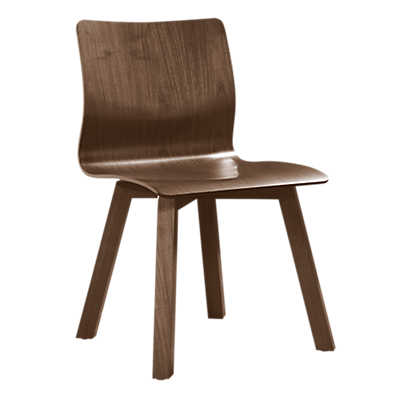 Picture of Model 112 Walnut Plywood Chair
