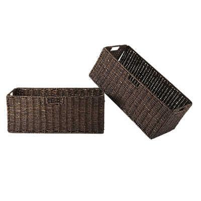 Picture of Large Foldable Corn Husk Baskets, Set of 2