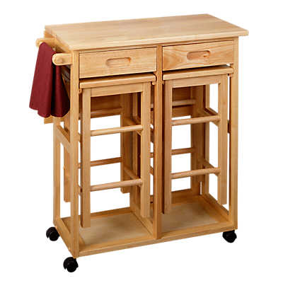 Picture of Space Saving Drop Leaf Table with Square Stools