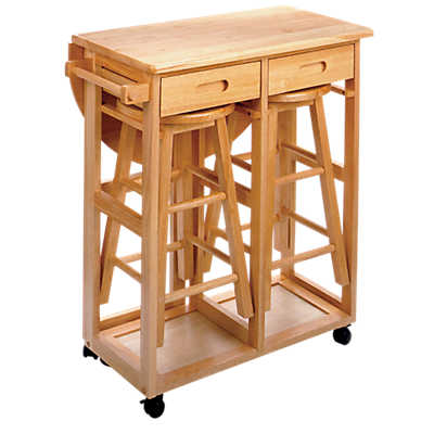 Picture of Space Saving Drop Leaf Table with Round Stools