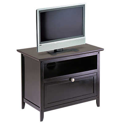 "Picture of 25"" TV Stand with Open Shelf and Pull Down Door"