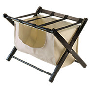Picture of Collapsible Luggage Rack with Laundry Basket