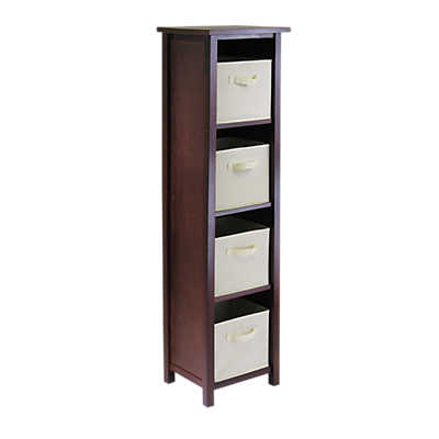 Picture of Tall Storage Shelf with 4 Fabric Baskets