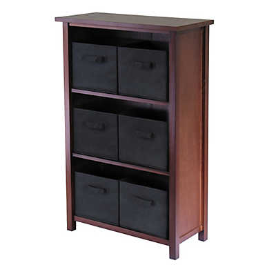 Picture of Three-Tier Storage Shelf with 6 Fabric Baskets