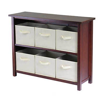 Picture of Two-Tier Storage Shelf with 6 Fabric Baskets