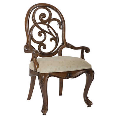 Picture of Jessica McClintock Mink Splat Back Arm Chair