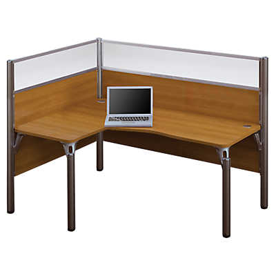 Picture of Professional Collection L-Shaped Desk with Privacy Glass, Left-Hand