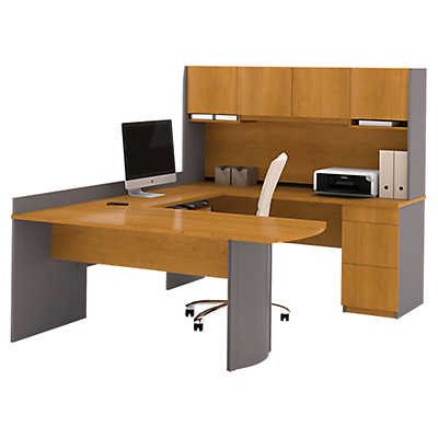 Picture of Perspective U-Shaped Desk with Hutch