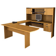 Picture of Central Park U-Shaped Desk with Hutch